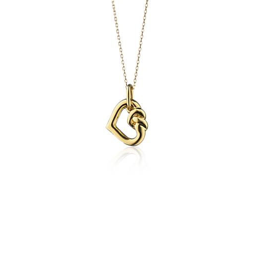 NEW Monica Rich Kosann Love Knot Charm Pendant Necklace in 18k Yellow Gold