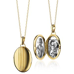 Monica Rich Kosann Petite Oval Locket in 18k Yellow Gold
