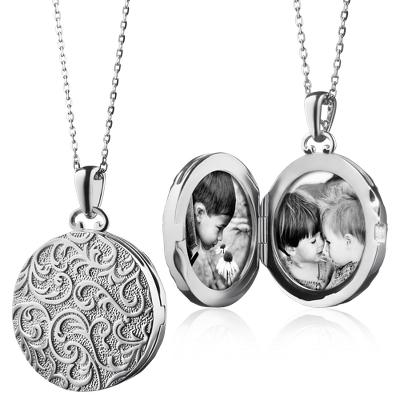 Monica Rich Kosann Vintage-Inspired Round Locket in Sterling Silver