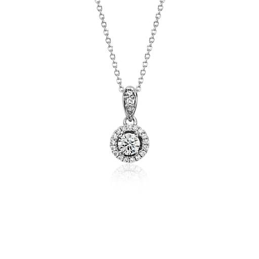 Monique Lhuillier Halo Pendant in 18k White Gold