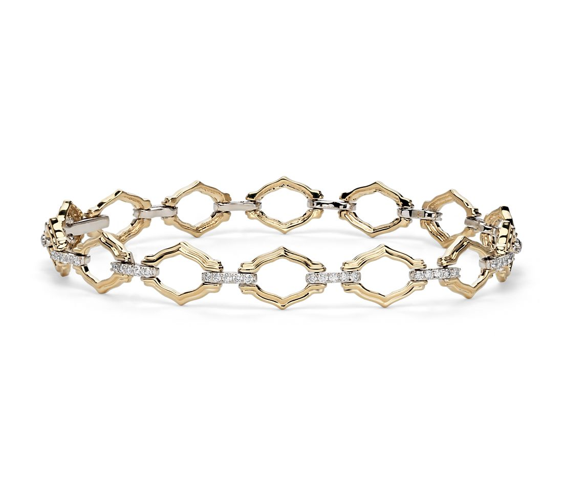 Monique Lhuillier Embrace Diamond Bracelet in 18k White and Yellow Gold