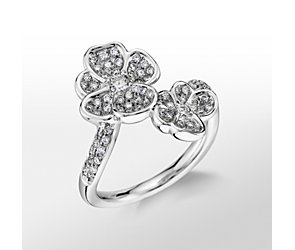 Monique Lhuillier Diamond Floral Wrap Ring