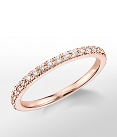 Monique Lhuiller French Pave Diamond Ring