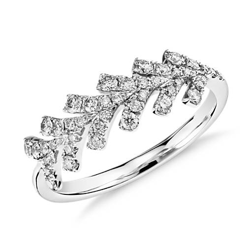 Monique Lhuillier Arrow Diamond Ring in Platinum