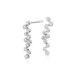 Monique Lhuillier Cascade Diamond Earrings in 18k White Gold (1/2 ct. tw.)