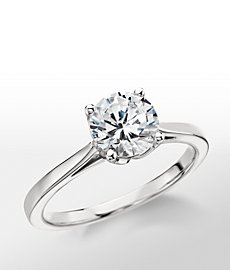 Monique Lhuillier Cathedral Solitaire Engagement Ring