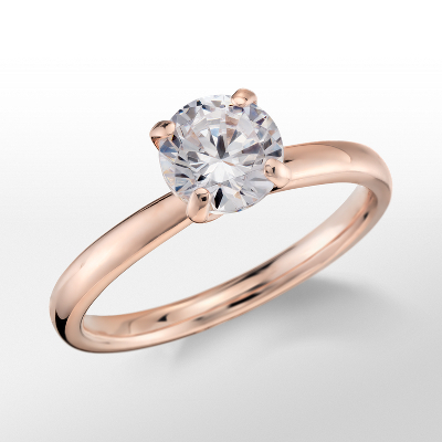 Monique Lhuillier Classic Solitaire Engagement Ring in 18k Rose Gold