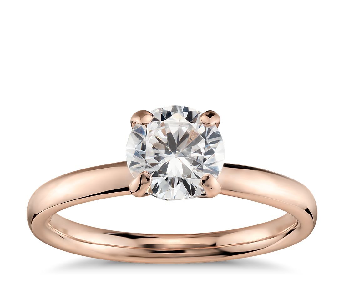 Engagement Rings Sale Rose Gold: Monique Lhuillier Classic Solitaire Engagement Ring In 18k