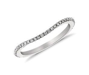 Monique Lhuillier Curved Pavé Diamond Ring (1/5 ct. tw.)