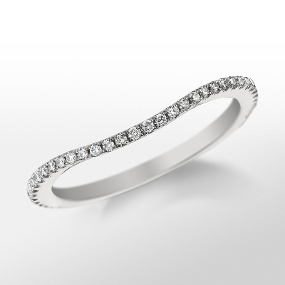 Monique Lhuillier Curved Pavé Diamond Ring (1/5 ct. tw.)