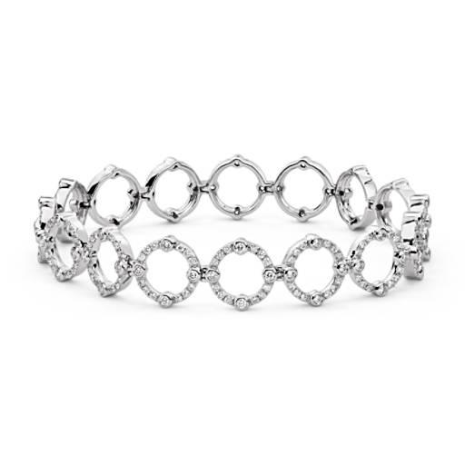 Brazalete de diamantes decorativo de Monique Lhuillier en oro blanco de 18 k