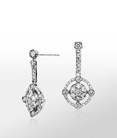 Monique Lhuillier Deco Diamond Earrings