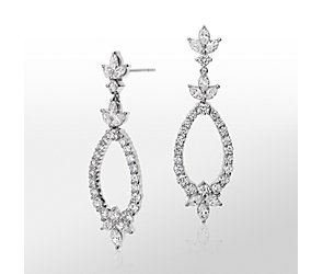 Monique Lhuillier Diamond Statement Drop Earrings