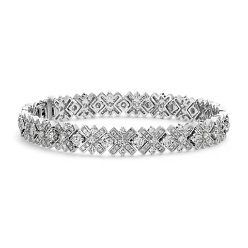 Monique Lhuillier Diamond XO Bracelet in 18k White Gold