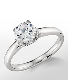 Monique Lhuillier Diamond Collar Engagement Ring