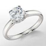 Monique Lhuillier Diamond Collar Engagement Ring in Platinum