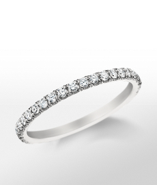 Monique Lhuillier French Pavé Diamond Ring