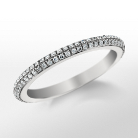 Bague double diamant Monique Lhuillier