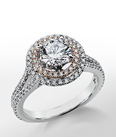 Monique Lhuillier Double Halo Engagement Ring