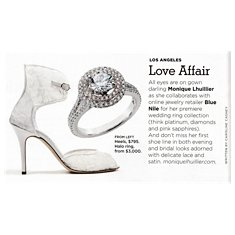 Monique Lhuillier Double Halo Engagement Ring featured in California Style Magazine