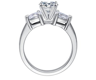 engagement ring with hidden sapphire detail