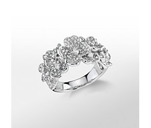 Monique Lhuillier Floral Diamond Ring