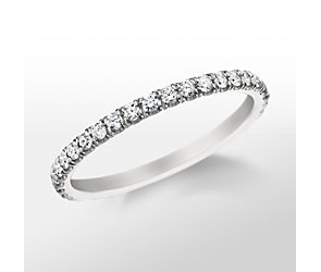 Monique Lhuillier French Pavé Wedding Band
