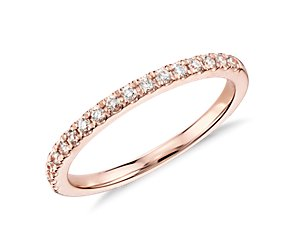 Monique Lhuillier French Pave Diamond Ring in 18k Rose Gold (1/5 ct. tw.)