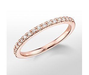 Monique Lhuillier French Pave Diamond Ring