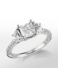Monique Lhuillier Half Moon Diamond Engagement Ring