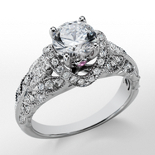 Monique Lhuillier Heirloom Diamond Engagement Ring in Platinum
