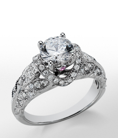 Monique Lhuillier Heirloom Diamond Engagement Ring