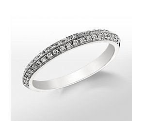 Monique Lhuillier Knife-Edge Diamond Wedding Band