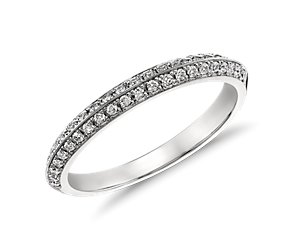 Monique Lhuillier Knife-Edge Diamond Ring in Platinum (1/4 ct. tw.)