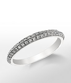 Monique Lhuillier Knife-Edge Diamond Ring