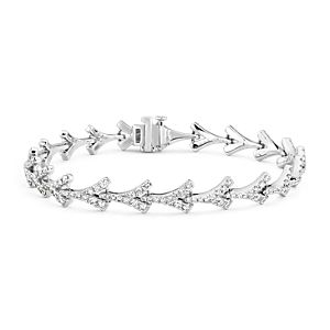 NOUVEAU Bracelet diamant Monique Lhuillier Laurel en or blanc 18 carats