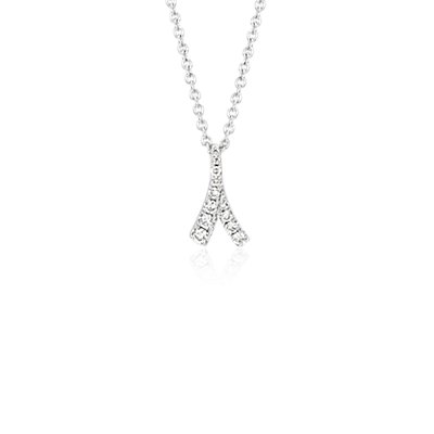 NEW Monique Lhuillier Laurel Diamond Pendant in 18k White Gold