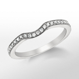 Monique Lhuillier Milgrain Diamond Ring