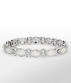 Monique Lhuillier Moonstone and Diamond Bracelet