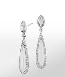 Monique Lhuillier Moonstone Drop Earrings