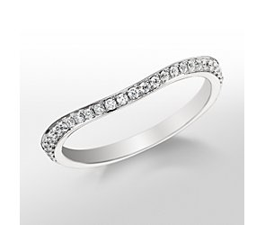 Monique Lhuillier Curved Pavé Diamond Ring