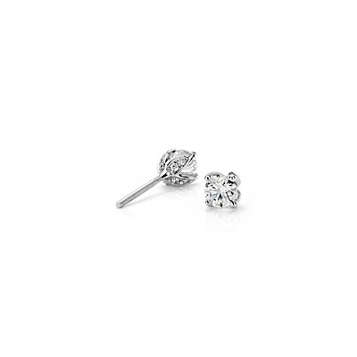 Monique Lhuillier Pavé Petal Diamond Earrings in Platinum (1/2 ct. tw.)