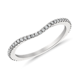 Monique Lhuillier Pavé-Set Diamond Ring in Platinum (1/6 ct. tw.)