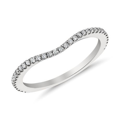 Monique Lhuillier Pavé-Set Diamond Ring in Platinum