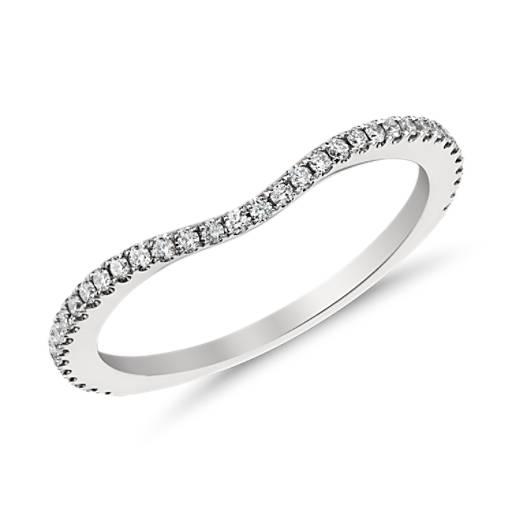 鉑金 Monique Lhuillier 密釘鑲鑽石戒指( 1/6 克拉總重量)