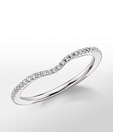 Monique Lhuillier Pavé-Set Diamond Wedding Ring