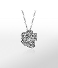 Monique Lhuillier Floral Diamond Pendant