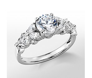 Monique Lhuillier Petal Garland Diamond Engagement Ring