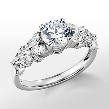 Floral Engagement Ring Blue Nile