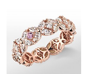 Monique Lhuillier Petal Garland Diamond Eternity Ring